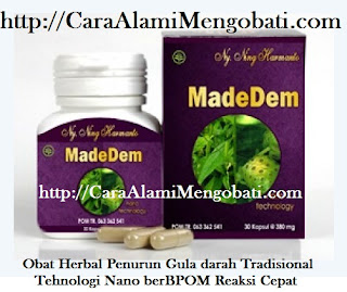 Cara alami mengobati diabetes melitus dg MadeDem herbal tradisional