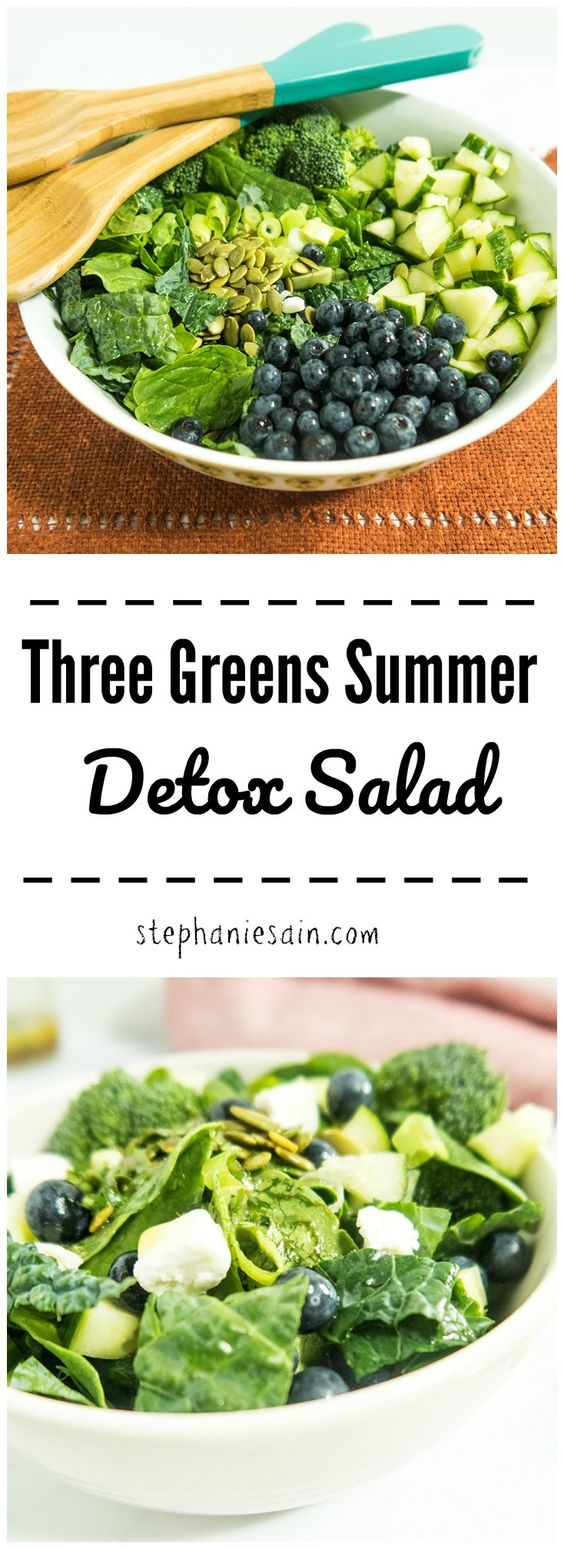 Three Greens Summer Detox Salad