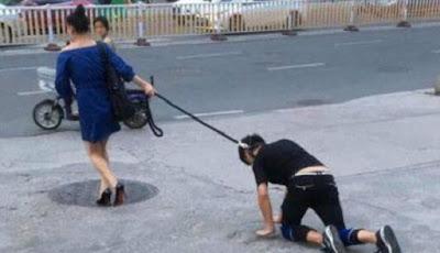 Mengejutkan, Wanita Ajak 'Jalan-jalan' Pria Bak Peliharaan