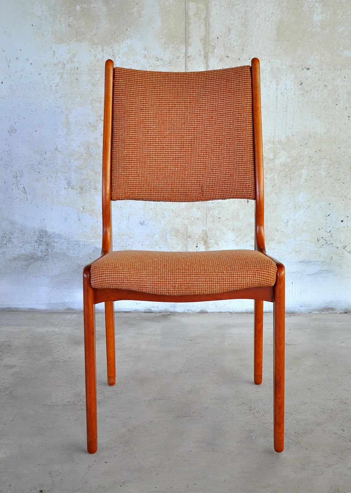 danish modern dining chair wall mounted select set of 6 teak chairs