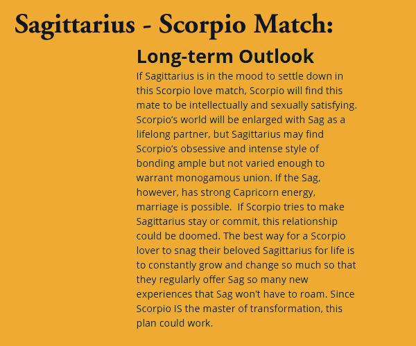relationship matches for sagittarius