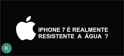 Entrou água no iPhone 7 à prova d'água? Saiba: a Apple não oferece garantia