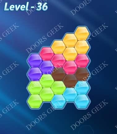 Block! Hexa Puzzle [Rainbow A] Level 36 Solution, Cheats, Walkthrough for android, iphone, ipad, ipod