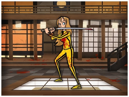 14-Kill-Bill-Freelance-Illustrator-and-Designer-Justin-White-aka-Jublin-Movies-&-TV-Shows-Series-as-Cartoons-www-designstack-co