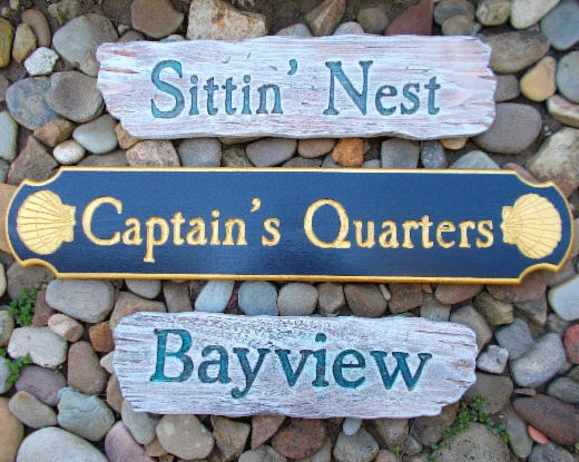 Driftwood House Name Signs