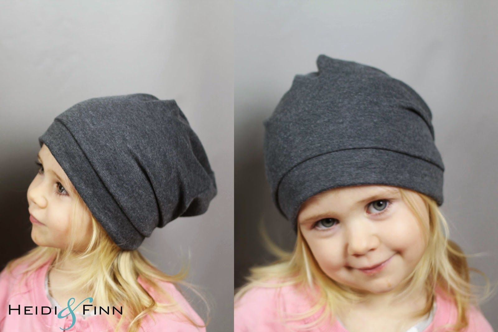 HeidiandFinn modern wears for kids  Slouchy Beanie hat - FREE pattern for  kids clothes week 6ca93ed1d88