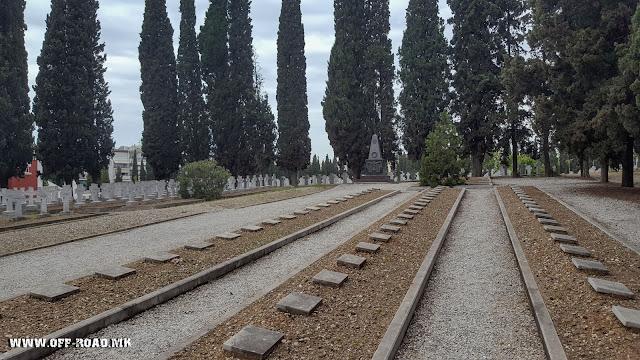 Zeitinlik military cemetery in Thessaloniki, Greece