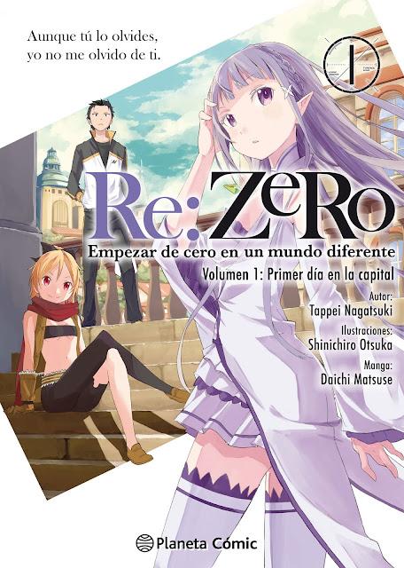 """Reseña de """"Re:Zero - Empezar de cero en un mundo diferente"""" (manga) vol.1 de Daichi Matsuse - Planeta Cómic"""