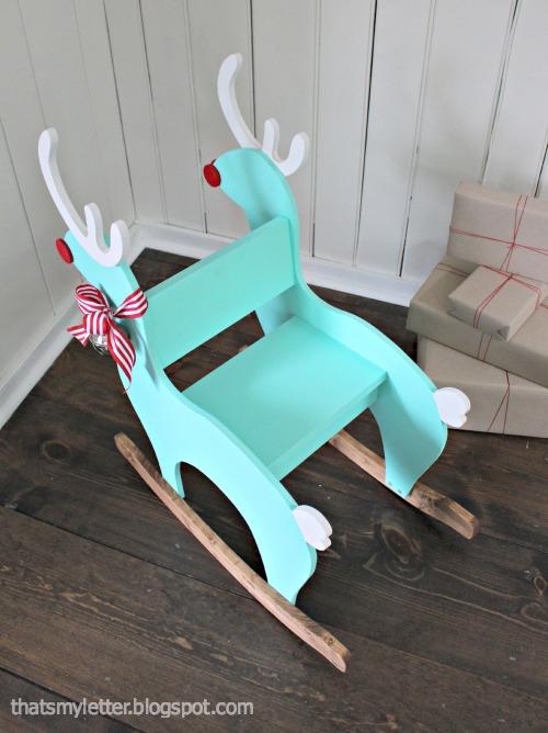 diy reindeer rocker seat view