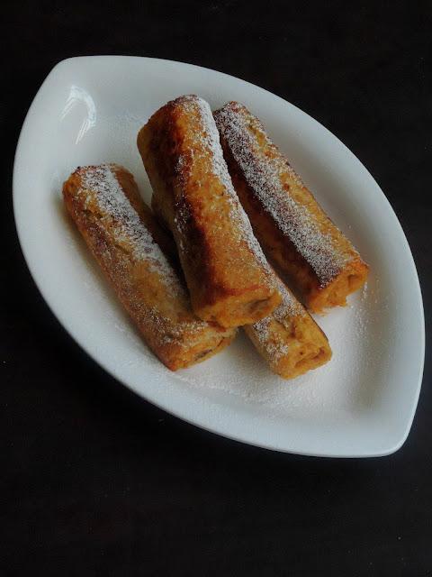 Nutella Brown Bread Toast Rolls