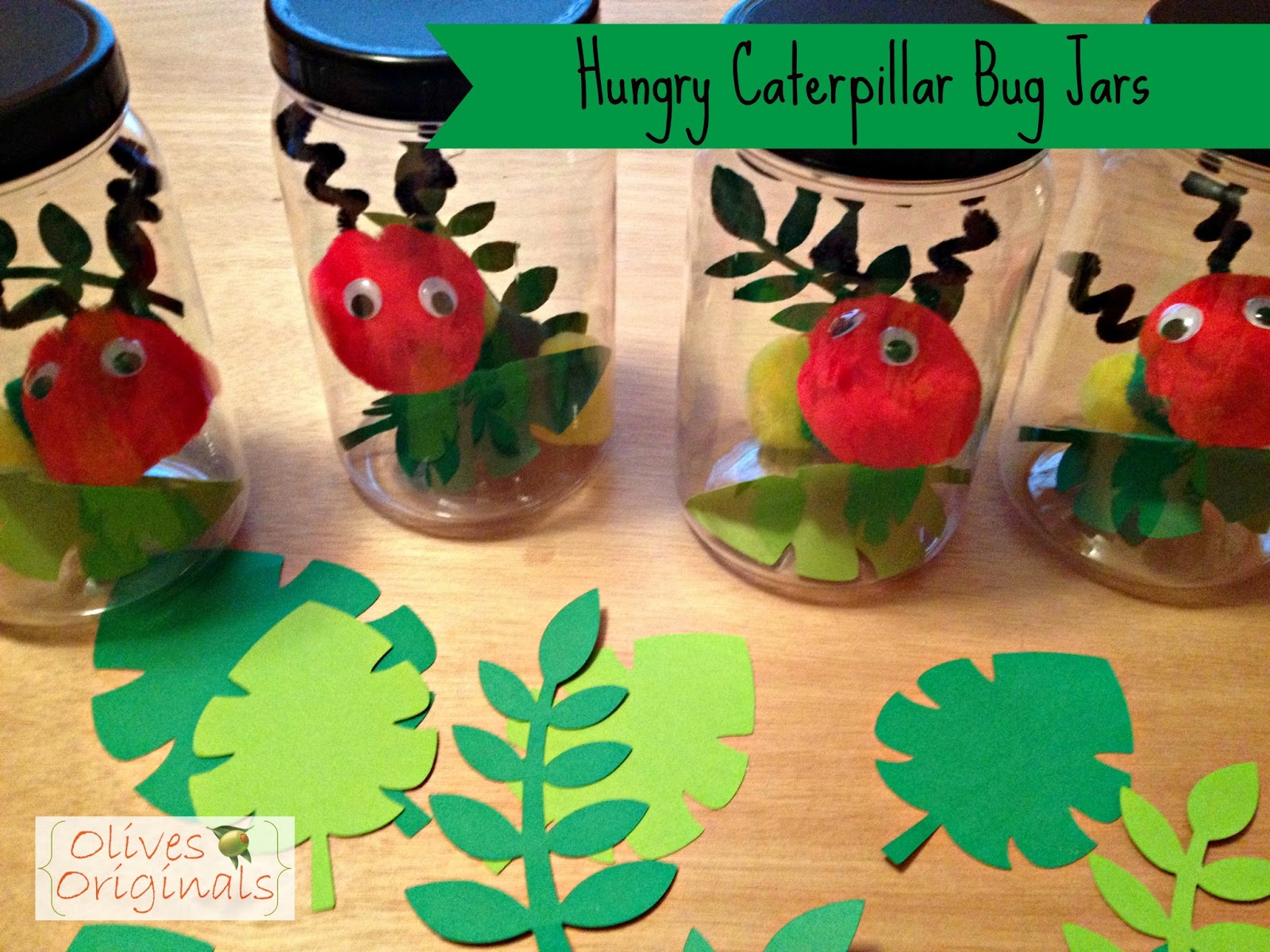 Olives Originals Tutorial Caterpillar Bug Jars