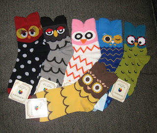 quirky owl socks
