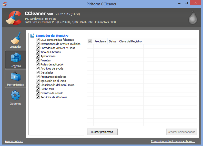 programa para limpiar registro windows 10