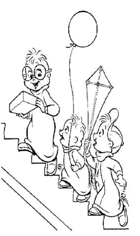alvin chipmunks halloween coloring pages - photo#16