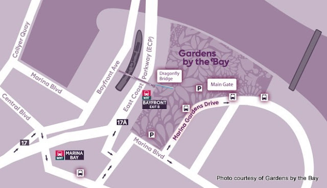 Image result for gardens by the bay map