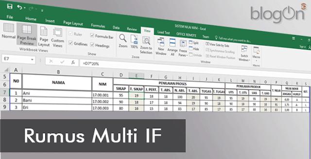 Belajar Microsoft Excel 2016: Membuat Rumus Pembobotan Penilaian Berdasarkan KKNI