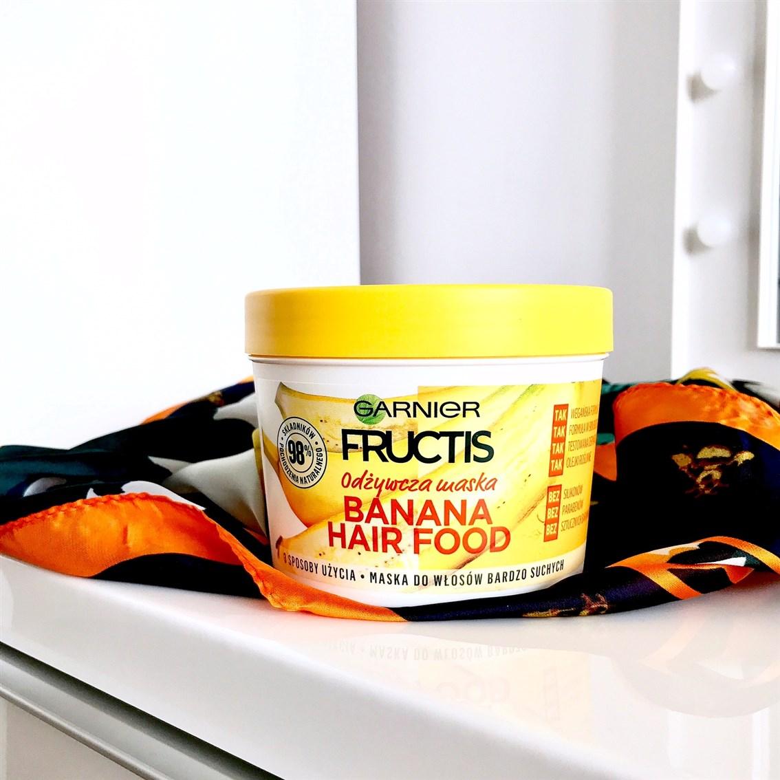 zdjęcie maski Garnier Fructis Banana Hair Food