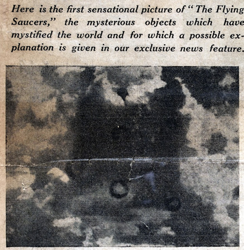 First Picture of Flying Saucers (Crpd) - Teen-Age Times 3-24, 25, 26-1950