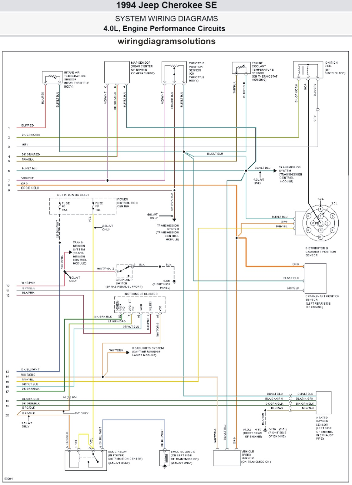 1990 jeep cherokee fuel pump wire diagram
