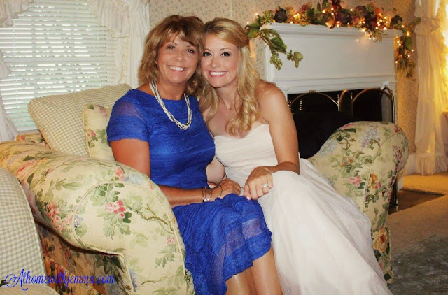 Wedding day, daughter, mother, blue mother of the bride dress