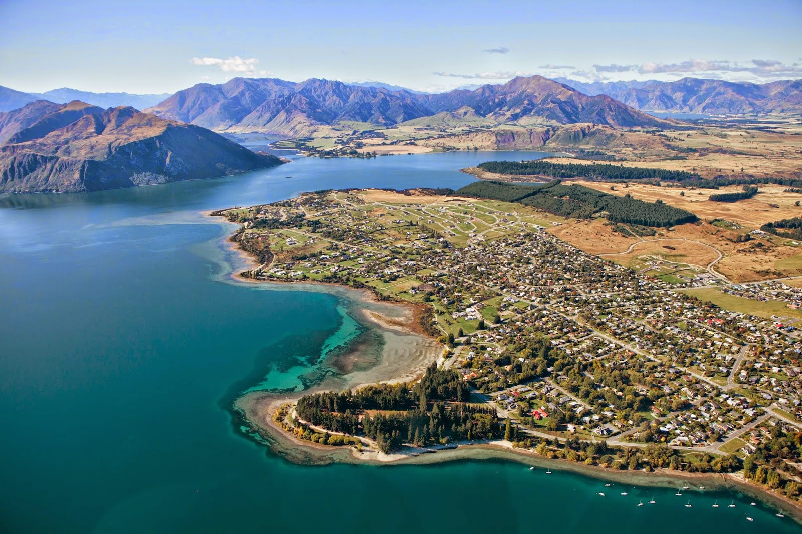 Lake Wanaka Aerial View