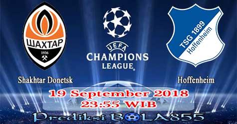 Prediksi Bola855 Shakhtar Donetsk vs Hoffenheim 19 September 2018