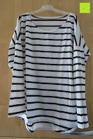 vorne: Yidarton Damen Rundhals Gestreift Stretch Basic T-Shirt Oberteile Langarmshirt Loose Bluse Tops