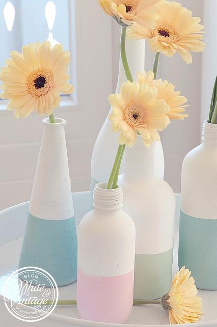 Vasen selber machen: Deko und DIY Blog White and Vintage