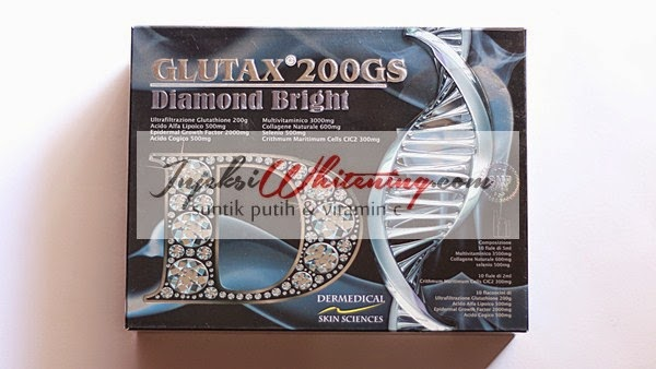 Glutax 200GS Diamond Bright, Glutax 200GS Diamond Bright review, Glutax 200GS Diamond Bright Injeksi Whitening, Suntik Putih Glutax 200gs