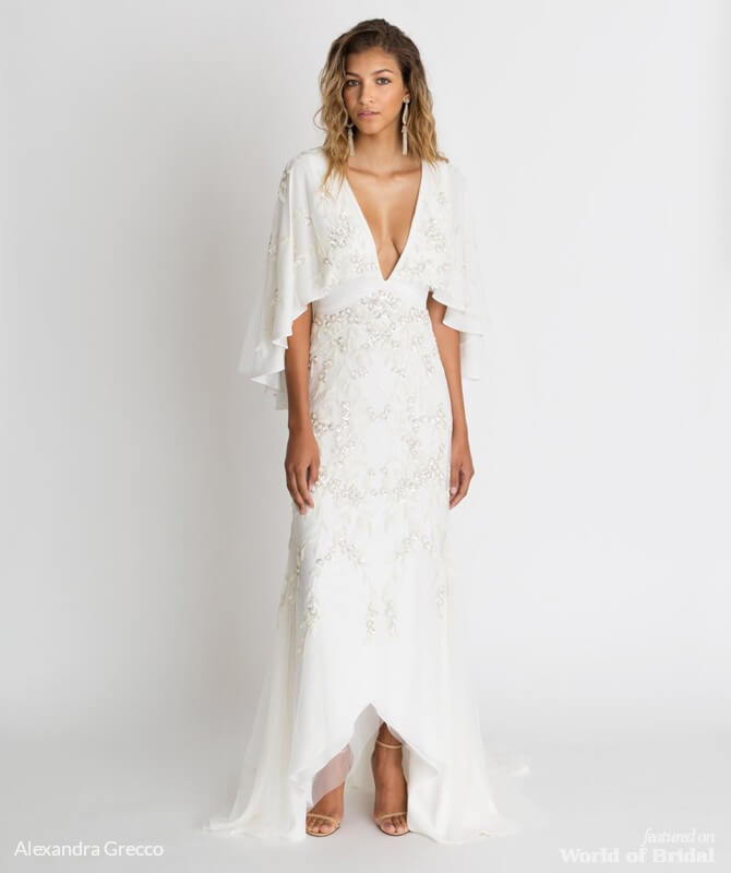 Alexandra Grecco 2018 Wedding Dress Sawyer Embroidered Gown ... 1fdaaec9f130