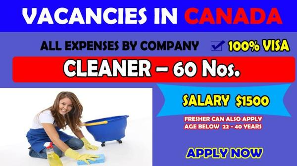 Cleaners & Housekeepers Job Vacancies in Canada