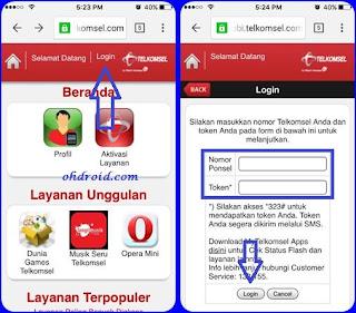 cara cek kuota telkomsel lewat website