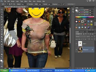 cara membuat baju foto tembus pandang