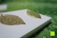 Seite: ZEEme Damen-Ohrhänger Messing Blatt Metall vergoldet 6.2 cm - 374030016