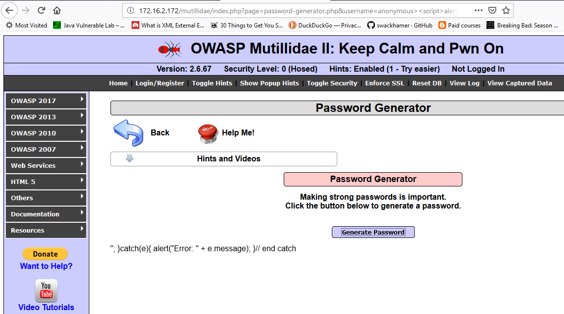 OWASP Cross Site Scripting (Reflected, Stored, DOM) - The