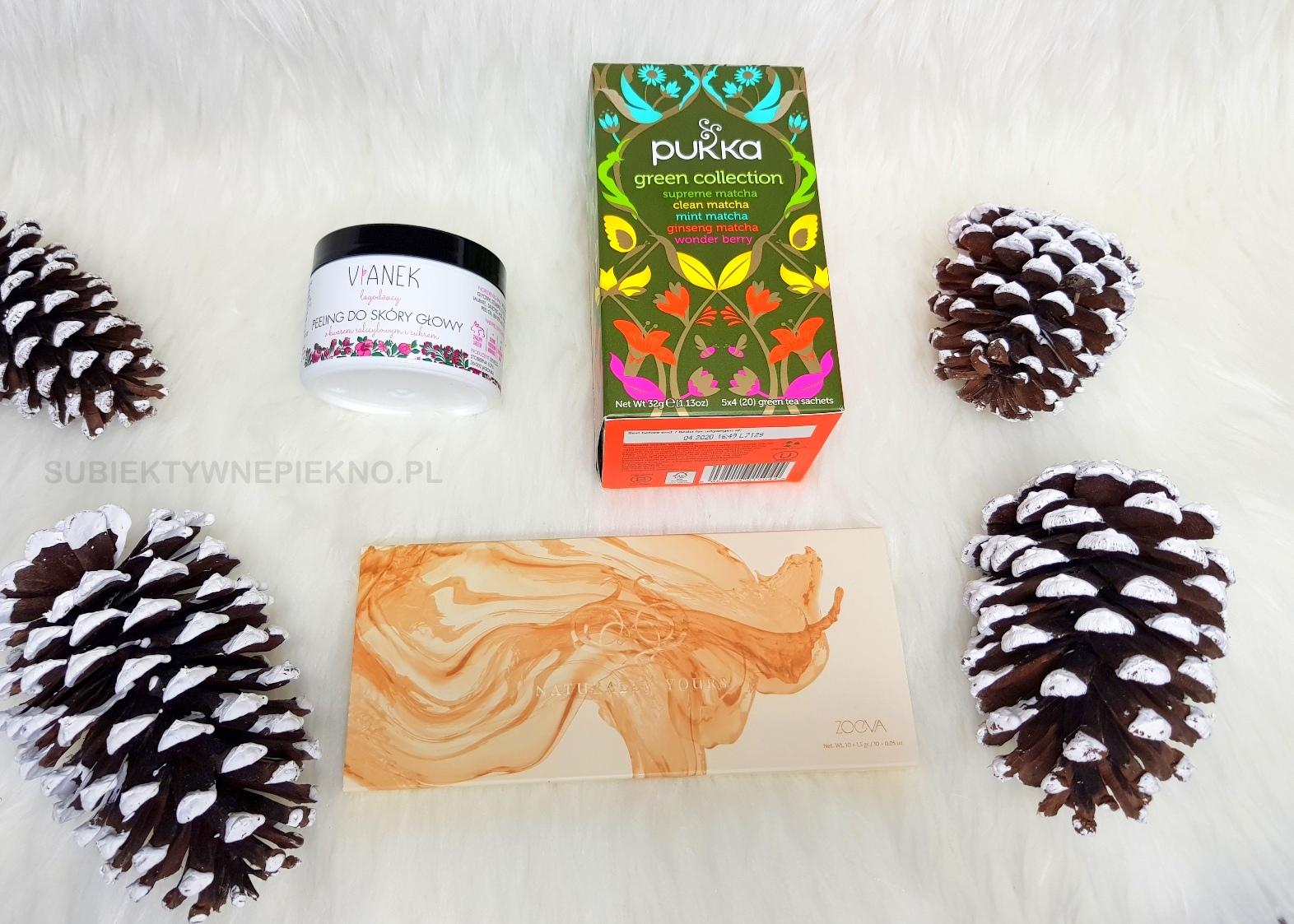 Nowości listopada - paleta Zoeva Naturally Yours, peeling do skóry głowy Sylveco, zielona herbata Pukka