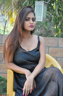 Pragya Nayan New Fresh Telugu Actress Stunning Transparent Black Deep neck Dress ~  Exclusive Galleries 039.jpg