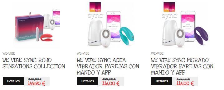 We Vibe Sync gama de productos en oferta