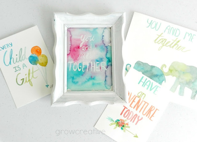 Watercolor Lettering paintings: growcreative