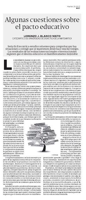Lorenzo J. Blanco Pacto por la Educación HOY