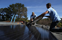 The boom in solar installations has spurred record job growth, a solar trade report says. (Credit: Getty Images) Click to Enlarge.