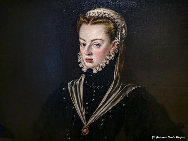 Retrato (detalle) de Doña Juana de Austria, princesa de Portugal, Alonso Sánchez Coello - Museo Bilbao por EGVP
