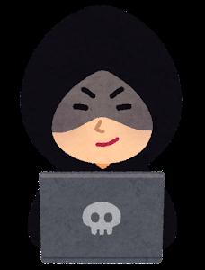 ハッカーのイラスト(笑顔)