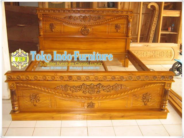 Dipan Davinci Kayu Jati Murah - Jepara Ukir - Toko Indo Furniture