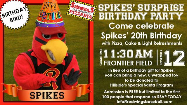 Rochester Red Wings holding birthday bash for mascot Spikes