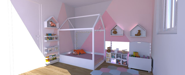 decoration- geometric- wall -painting-baby-room