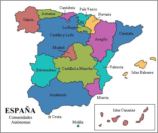 cantabria espanha mapa Geografía de Tercero de ESPA: Mapas interactivos   Comunidades  cantabria espanha mapa