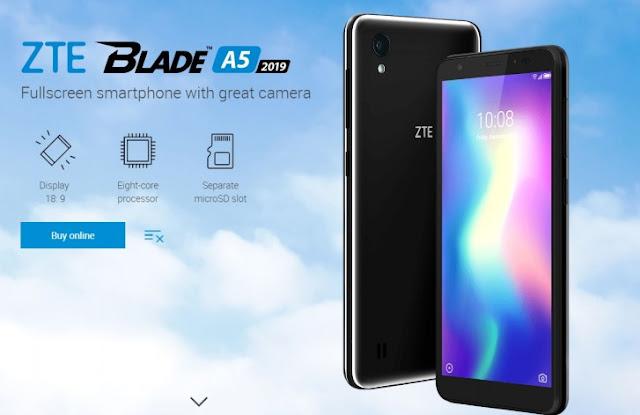 Hp ZTE Blade A5 2019 Diperkenalkan Dan Segera Hadir Di Rusia