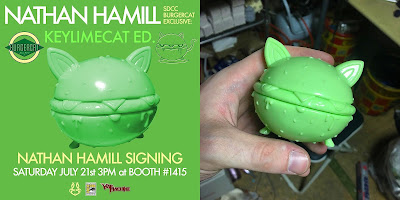 San Diego Comic-Con 2018 Exclusive BurgerCat KeylimeCat Edition Vinyl Figure by Nathan Hamill x Science Patrol