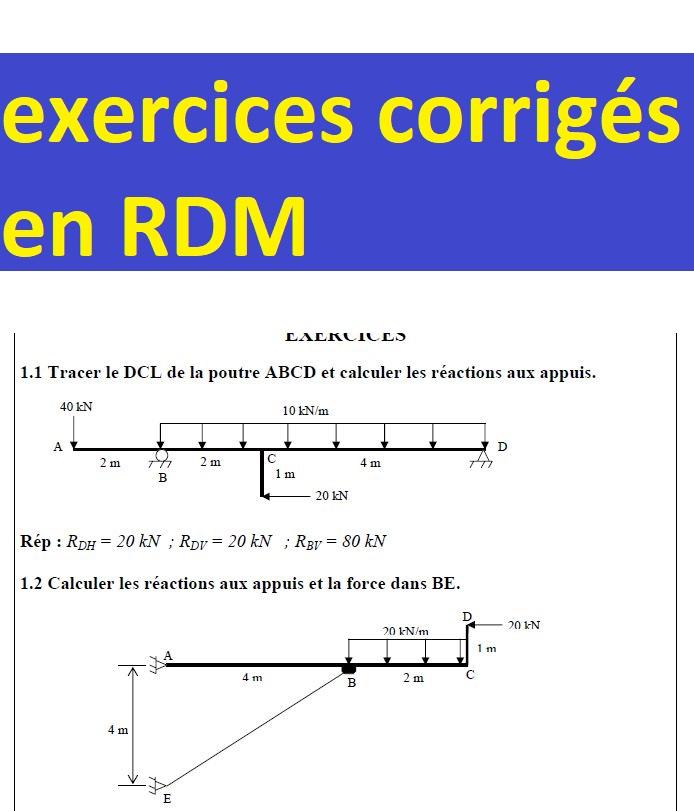 .PDF DES EXERCICES CORRIGES MATÉRIAUX RÉSISTANCE COURS TÉLÉCHARGER ET